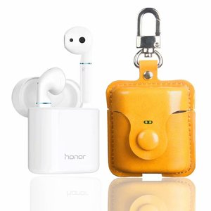 PU Leather Headphone Protective Cover Eraphone Case For Honor Flypods pro Wireless Bluetooth Headset