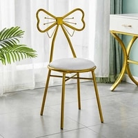 1pc nordic dressing table stool pu leathervelvet chair nail salon stool makeup vanity chair cafe bar butterfly lounge chair