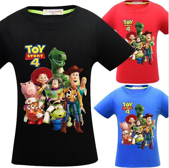 2019 film Toy Story 4 T Shirt Sommer T-shirt Kurzarm Tops Tees Teenager Mädchen Jungen Kleidung Kinder Casual Sport kleidung