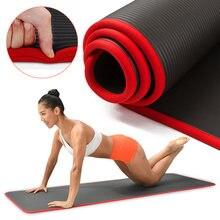 10mm Thickened Yoga Mat High Quality NBR Non-slip Fitness Gym Mats Sports For Men Women Fitness Tasteless Pilates Gym Exercise