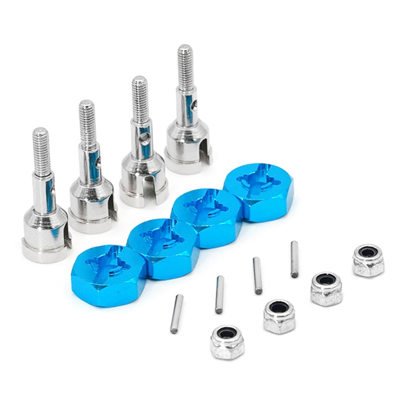Wheel Conversion Set Axle & 12Mm Hex Dive Hub Turn 1/10 on Road for WLtoys 1/18 A959 A969 A979 A959B