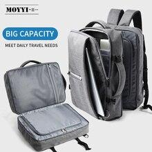 MOYYI 비즈니스 여행 더블 컴 파트먼트 배낭 멀티 레이어 15.6 인치 노트북 망 배낭 가방에 대 한 독특한 디지털 가방