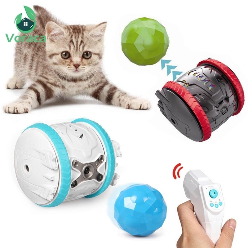 Robot inteligente para mascotas, juguete para perros, pelota para jugar, gato, saltar, juguetes de Control remoto inteligentes, seguir regalo recargable para niños