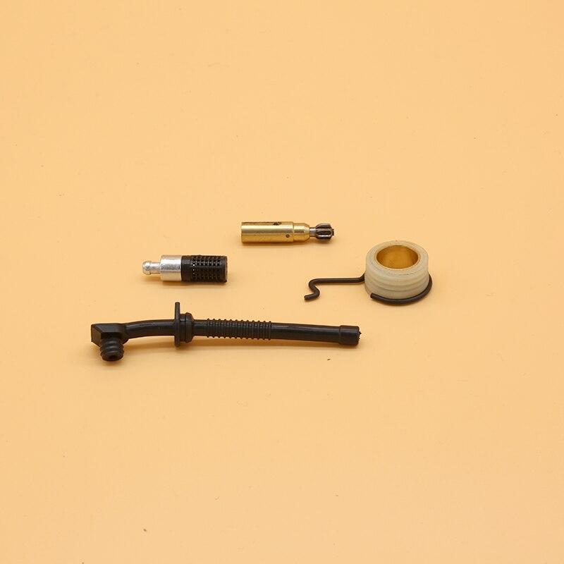 Tornillo sin fin de bomba de aceite engranaje tubo flexible de aceite Filtro de tubo de Gas motosierras partes para STIHL 017 018 MS170 MS180 MS 170 180