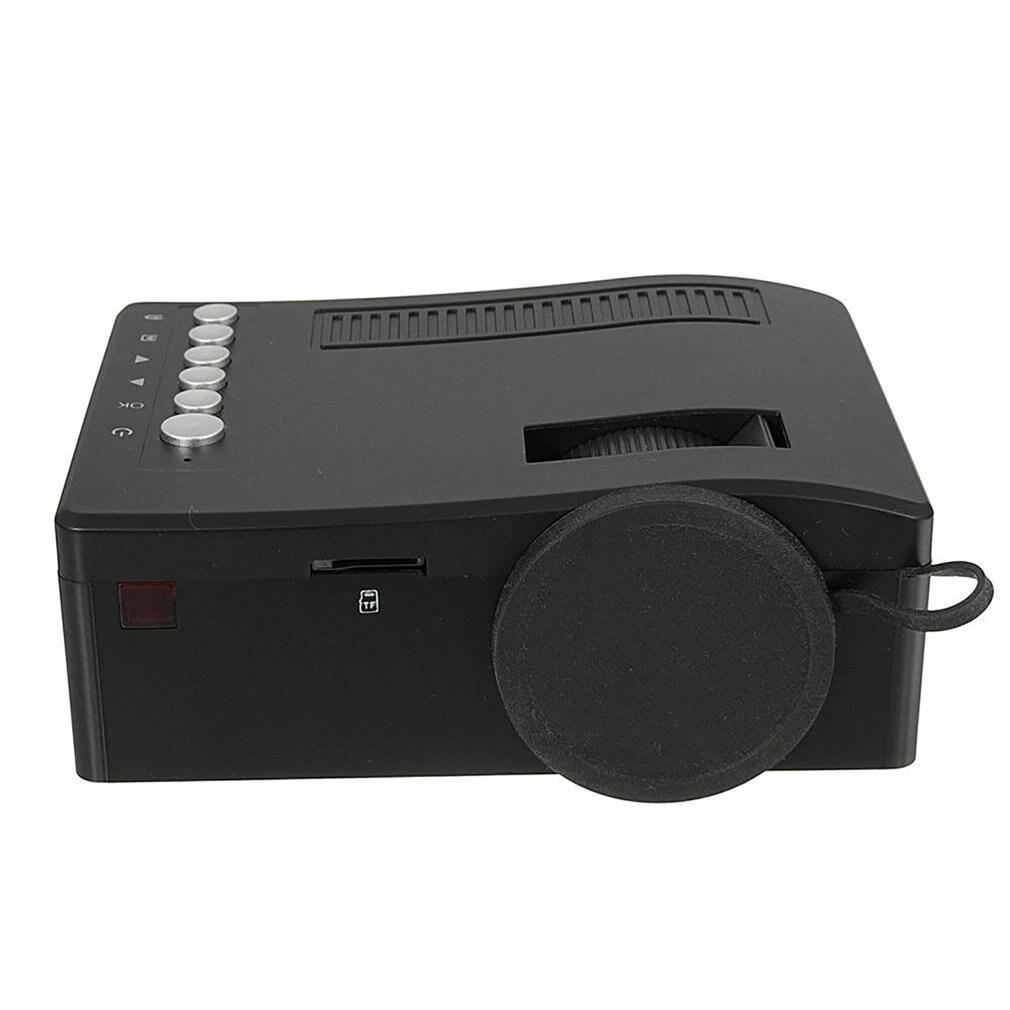 Mini proyector de cine en casa privada LED HD HDMI proyector de múltiples interfaces reproductor multimedia 1920x1080 P AV USB VG 24w enchufe de EE. UU.