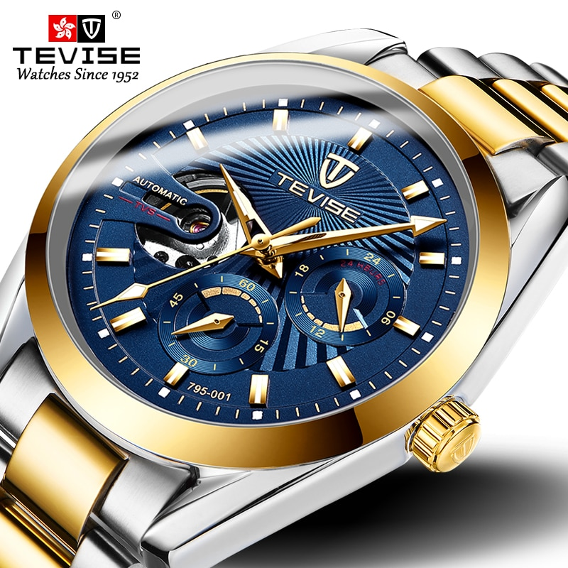 Tevise 2019 Drop Shipping Top Brand Men Mechanical Watch Automatic Fashion Luxury Stainless Steel Ma