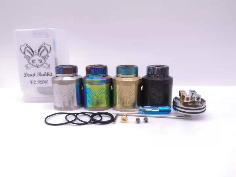 Drop Dead v2 RDA Tank 24mm with 810 Resin drip tip BF Squonk 510 Pin Available For Both Single and Dual Coil Building vape enlarge