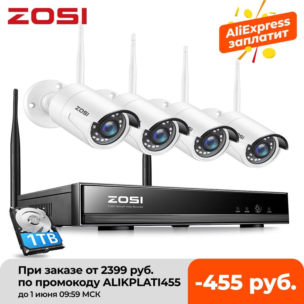 aliexpress.com - ZOSI 8CH Wireless CCTV System H.265 1080P NVR 2MP IR-CUT Outdoor Video Recorder Camera IP Security System Video Surveillance Kit