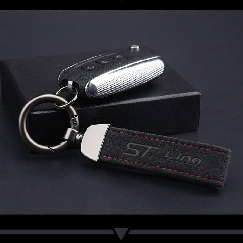 Для Ford focus mk2 mk3 st с модным металлическим Кожаный Автомобильный брелок с логотипом, брелок 4s магазин бизнес-подарок пользовательские авто акс...