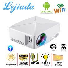 LEJIADA C80UP intelligent Android WiFi projecteur 1080P HD avec Bluetooth sans fil synchroniser au téléphone intelligent pour le divertissement en famille