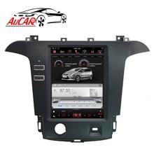 Tesla-autoradio pour Ford S max s-max Galaxy 2007-2015   Lecteur audio multimédia, système GPS, Bluetooth WIFI Vertical, stéréo IPS