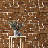 vintage waterproof brick pattern wallpaper roll diy self adhesive wall paper wall decor living room bedding room