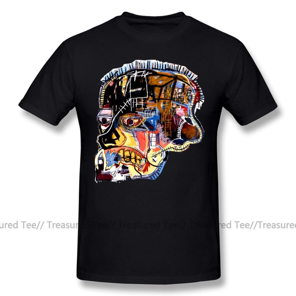 Basquiat T Shirt Basquiat Skull Sticker T-Shirt Graphic XXX Tee Shirt Awesome Short Sleeve Cotton Male Fashion Tshirt