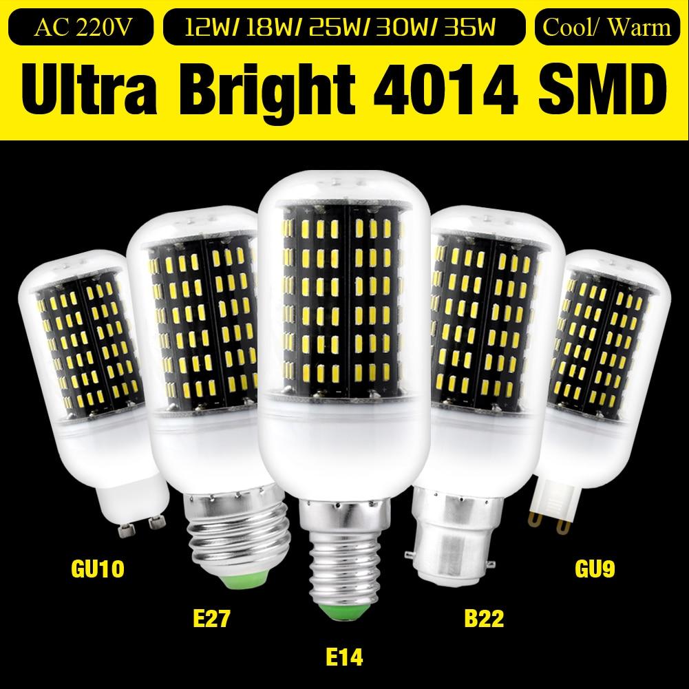 5 uds nuevo 220V E27 36 56 72 96 138 LEDs E14 G9 Luz de maíz bombilla de foco GU10 reemplazar 12W 18W 25W 30W 35W LED para ahorrar energía de la lámpara
