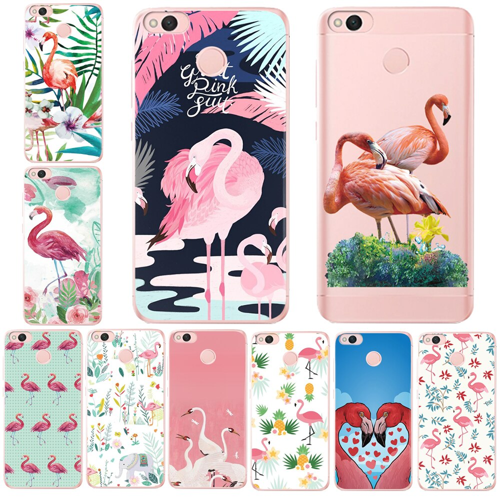 Flamingo Fly DC Phone Case For Xiaomi MI8 Redmi 6 6A 4 4A 4X 5A Note4 4X Mi6 5X A1 Soft Silicone Cover Coque Shell Fundas Black