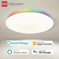 Yeelight     plafonnier LED intelligent Arwen  eclairage dambiance colore  50W  220V  450c 550C  fonctionne OK  Google Alexa  SmartThings  Apple HomeKit