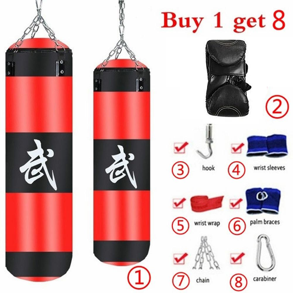 Conjunto de 8 unidades de bolsa de boxeo para entrenamiento de Fitness MMA, bolsa de arena colgante para boxeo, bolsa de arena colgante para boxeo, bolsa de arena colgante para entrenamiento deportivo Boxi