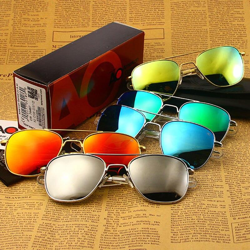 Gafas de sol para piloto militar del ejército americano gafas de sol para hombre y mujer OP55 OP57 de alta calidad 023