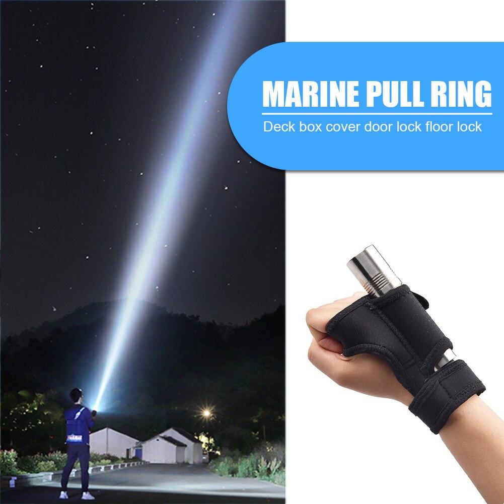 Réglable respirant plongée sous-marine clignotant support gants doux en plein air cyclisme nuit plongée torche bras montage poignet sangle gant