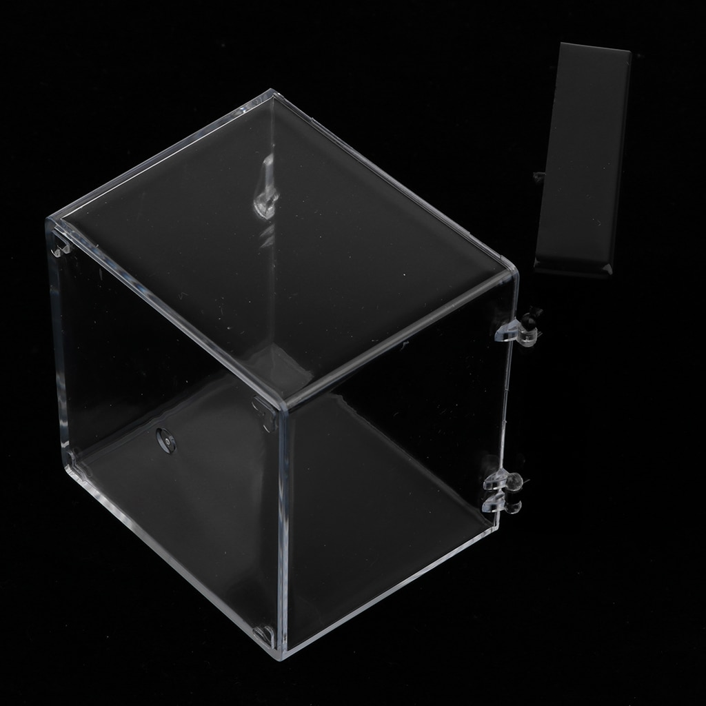 Clear Display Show Case Acrylic Box For Rock Mineral Collections 6.5x6.5x7cm 2pcs clear acrylic display show case box perspex dustproof protection for figure diecast vehicle doll model figurine collection