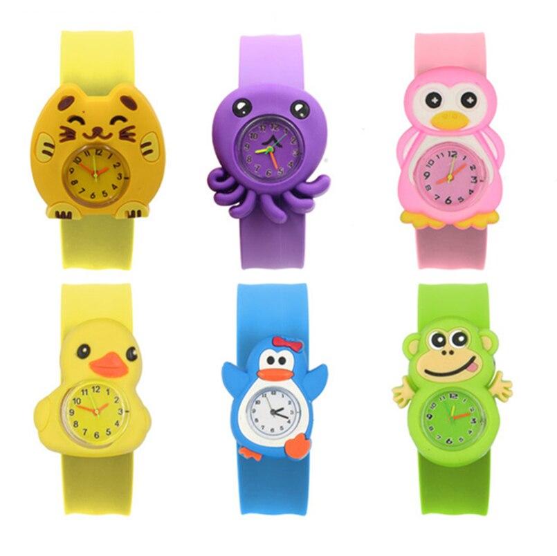Children's Watches 3D Cartoon Kids Wristwatches Baby Student Electronic Watch Clock Quartz Watches f
