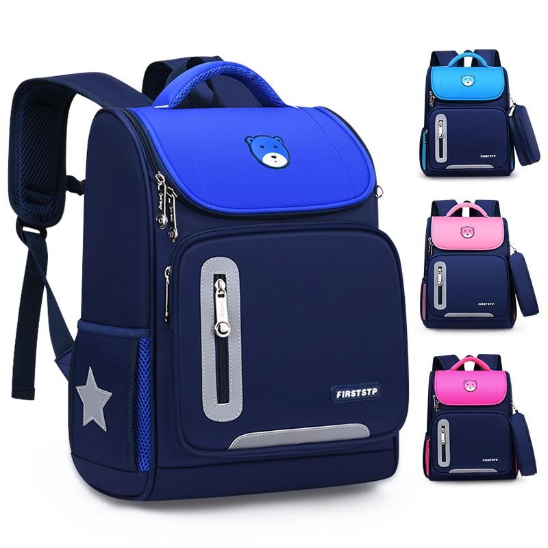 waterproof children School Bags primary school Backpacks boys Girls kids satchel Schoolbag Orthopedi