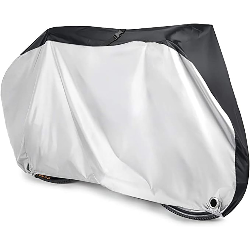 Bike Cover Protective Gear Bike Rain Cover 190T Nylon Waterproof Anti Dust Rain UV Protection With L