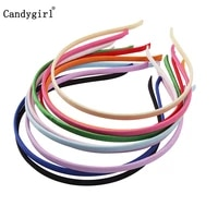 0 51cm solid color diy satin headbands girls fabric cover ribbon hairbands craft base tiara hair accessories