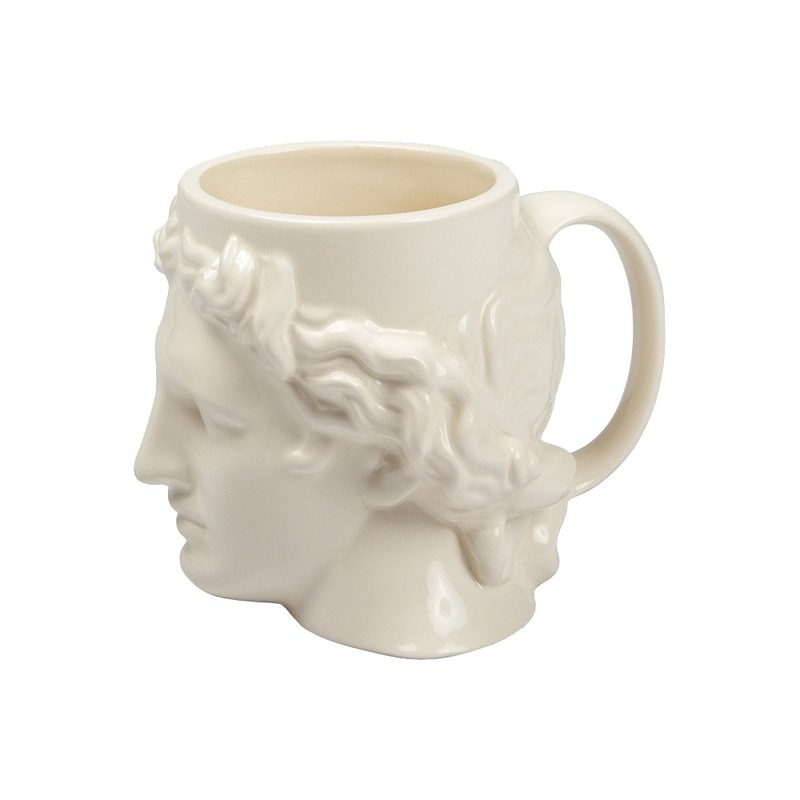 Taza de cerámica con cabeza de David, gran capacidad, escultura de Apolo griego antiguo, taza de café personalizada para oficina, decoración de escritorio