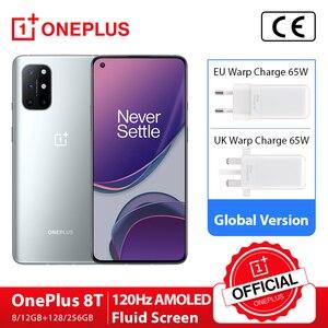 Новая глобальная прошивка OnePlus 8 T, 8 T, 8 Гб 128 Snapdragon 865 5G смартфон 120 Гц активно-матричные осид жидкости Экран 48MP Quad камеры 4500 мА/ч, 65 Вт Warp