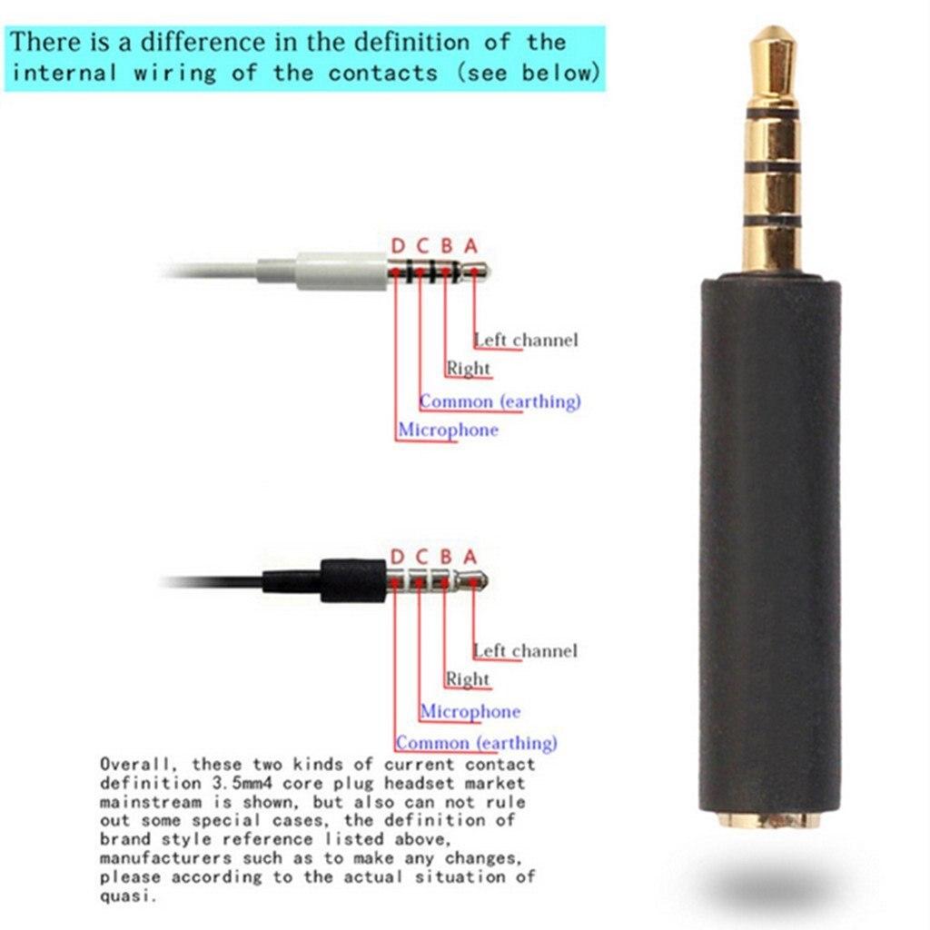 שקע 3.5mm אודיו זכר לנקבה CTIA-OMTP ממיר מתאם סטריאו תקע מחבר עבור רמקול Aux כבל 3.5mm שקע עבור טלפונים