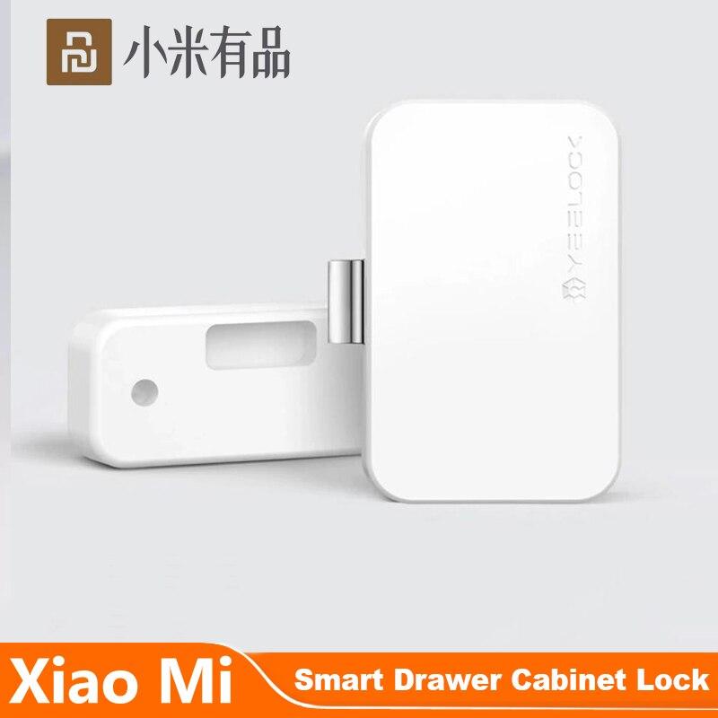 Cerradura cajón de gabinete Youpin YEELOCK, inteligente, sin llave, Bluetooth, desbloqueo por aplicación, antirrobo, archivador de seguridad para niños