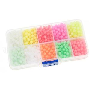 Fishing Beads Glow In The Dark 1000 Pcs 4mm Plastic Round Luminous Beads For Floating Lures Fishing Rigs Bait Beads