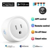 Prise dalimentation sans fil 16a US  telecommande WiFi Durable  minuterie intelligente  pour maison intelligente  fonctionne avec Amazon Alexa   Google Assistant