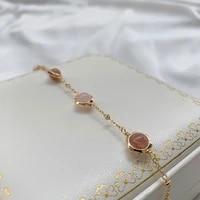 recruit peach blossom transfer pink crystal strawberry crystal bracelet for girlfriend