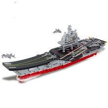 Sluban 0399 1450 Flugzeug Träger Warship Navy Submarine Bausteine Stadt Military Schiff Flugzeug Ziegel