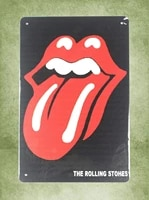 metal signinch man cave plaques rolling stone tongue lip vintage look tin sign wall decoration bar cafe home decor