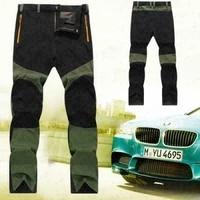 new mens waterproof trousers outdoor hiking walking pants motorcycle fishing hiking breathable warm thin long pants