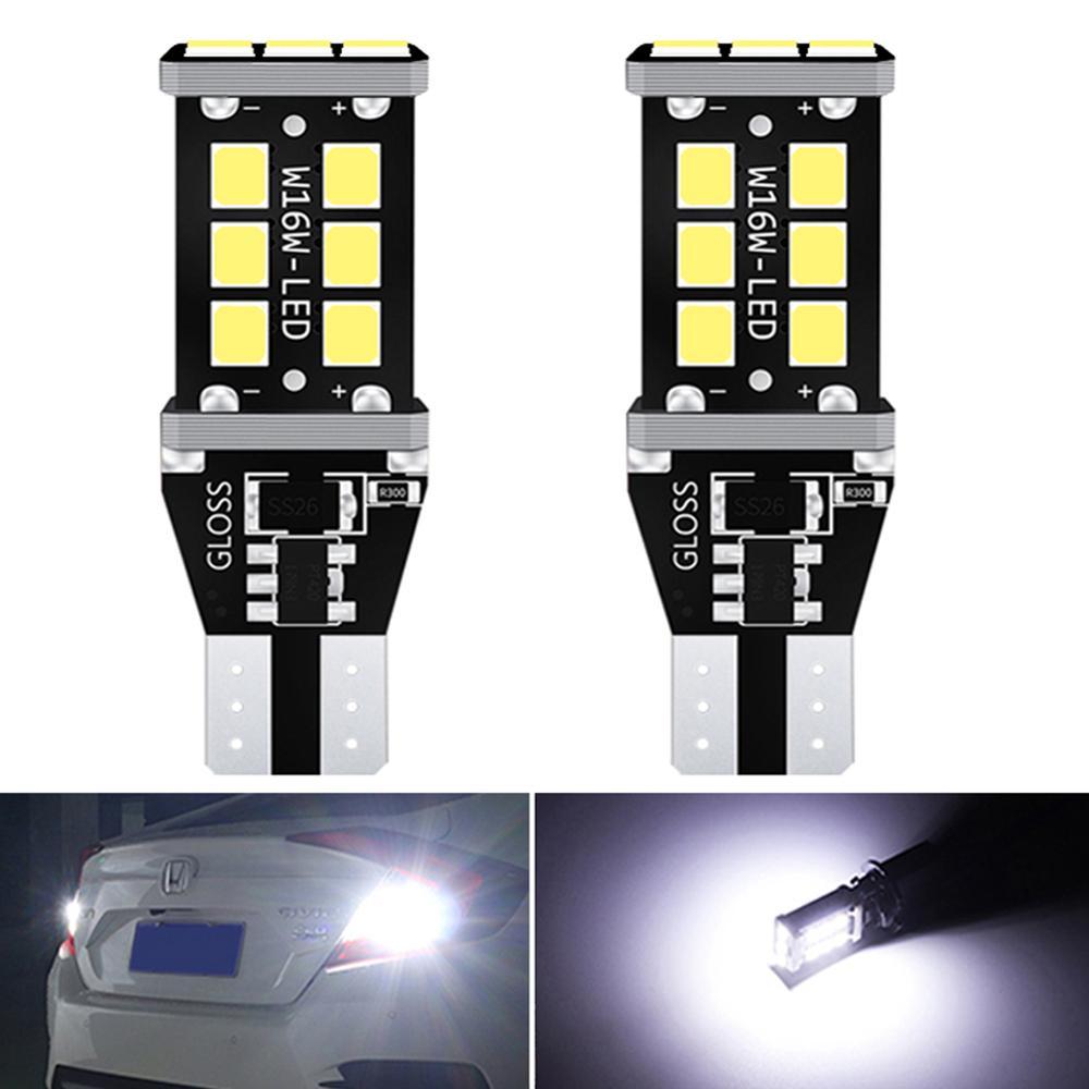 2x T15 T16 Canbus 921 W16W bombilla LED luces de marcha atrás de coche para Toyota Prius Celica Ipsum Verso deseo Prado Harrier Highlander