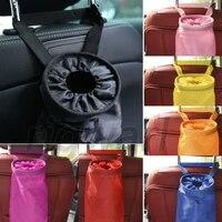 car seat back garbage bag not disposable trash rubbish litter box black color