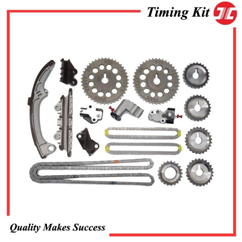 Набор цепей синхронизации для автомобиля/компоненты цепи синхронизации для Nissan VQ20DE/VQ30DE LEOPARD/SKYLINE/STAGEA 2.0L/3.0L 94-04, автозапчасти для двигателя