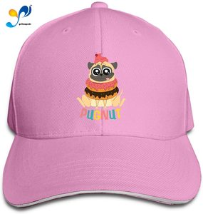 Pug Do-Nut Funky Sandwich Baseball Cap Unisex Trucker Hat Adjustable Dad Hat