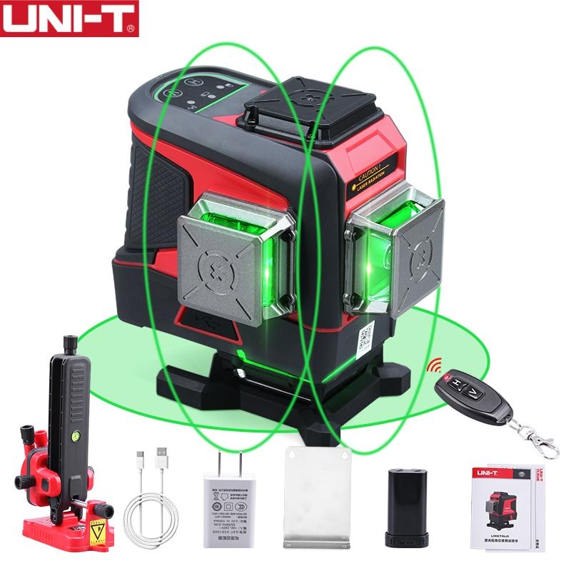 UNI-T LM576LD 16 خطوط مستوى الليزر ثلاثية الأبعاد الأخضر الأفقي الرأسي الذاتي التسوية مستوى الليزر التحكم عن بعد (لا الأدوات)