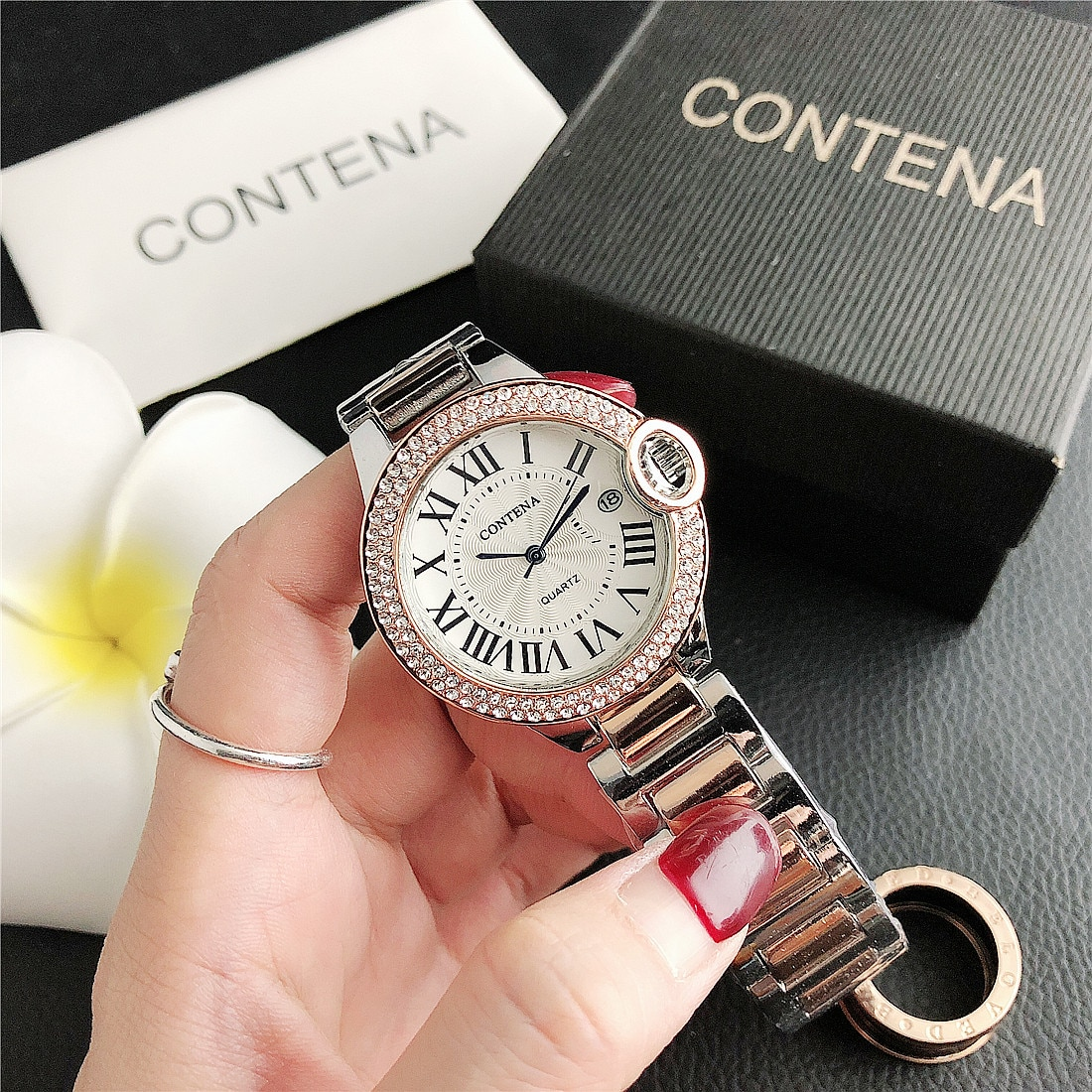 CONTENA Simple Style Women's Wristwatches Luxury  Female Clock Relogio Feminino Montre Femme