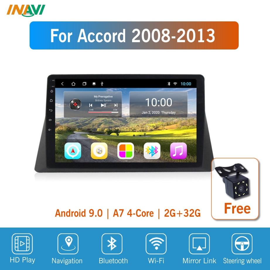 10 ''Android9 для Accord 2008-2013 Автомобильная Мультимедийная магнитола GPS-навигатор Navi плеер Авто Стерео WIFI 2 din