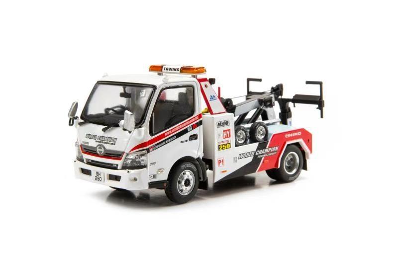 صغيرة 1/43 هينو 300 بطل العالم شاحنة جر يموت يلقي نموذج سيارة مجموعة محدودة