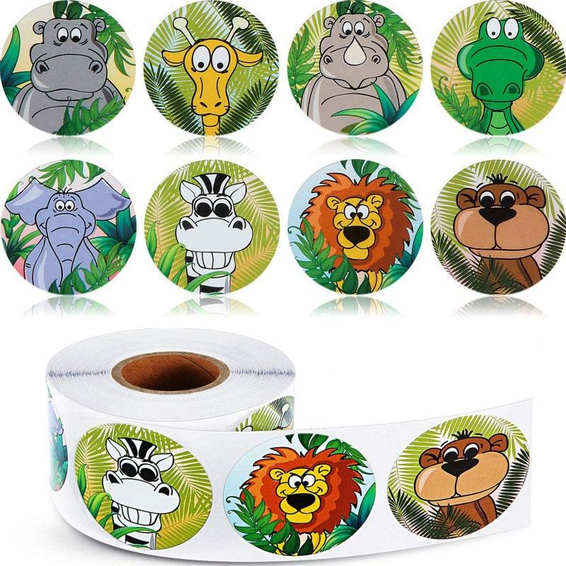 50-500pcs-zoo-cartoon-animal-decor-sticker-insegnante-di-scuola-ricompensa-adesivi-per-studenti-giocattolo-per-bambini-forniture-fisse-carine