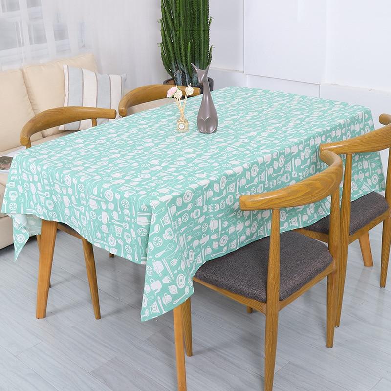 Mantel Rectangular de lino y algodón para mesa de comedor o cocina, mantel a prueba de aceite para Hotel o hogar