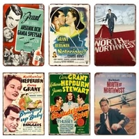 Film Cary grace retro  Plaque en metal  signe en etain  decoration de Bar  Pub  cafe  Plaque  Shabby Chic  Vintage  cinema  affiche de decoration pour la maison
