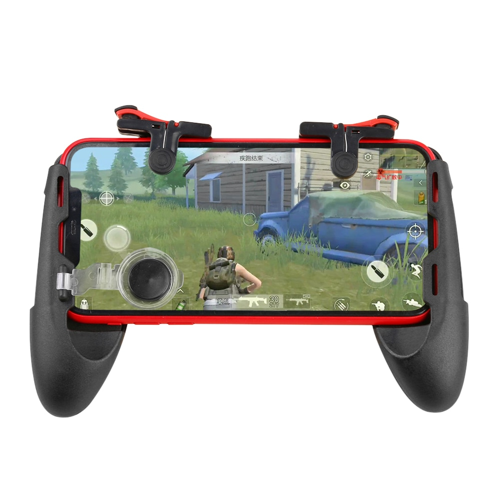 Phone Game Controller for PUBG Mobile Trigger Shooting Fire Button 3 in 1 Telescopic Gamepad for iPhone Android Phone Joystick